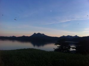 Twilight view from Afognak Island beach