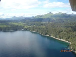 View of Afognak Island from a bush plane