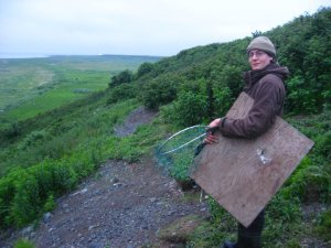 On my way to catch Rhinoceros Auklets
