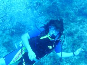 Me diving in Jamaica