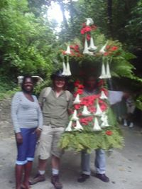 "Me with a local ""Jack of the Forest"" in Ferngully, Jamaica"