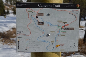 A very helpful sign with a very accurate trail map.